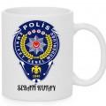 polis özel baskılı seramik kupa bardak